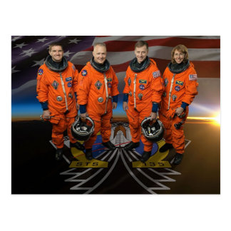 STS-135_Official_Crew_Photo Postcard