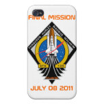 STS-135 Patch, Final Mission, July 08 2011 Cover For iPhone 4