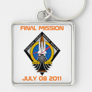 STS-135 Patch, Final Mission, July 08 2011 Key Chains