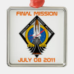 STS-135 Patch, Final Mission, July 08 2011 Christmas Ornaments