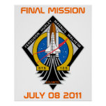 STS-135 Patch, Final Mission, July 08 2011 Posters