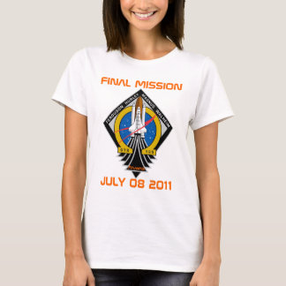 STS-135 Patch, Final Mission, July 08 2011 T-Shirt