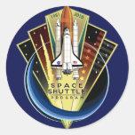 STS 135 The Final Flight Classic Round Sticker