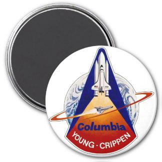 STS 1 Columbia: Jóvenes y Crippen Imanes De Nevera
