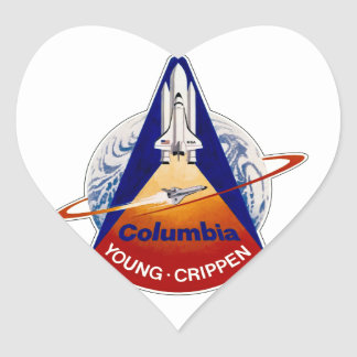 STS 1 Columbia: Young and Crippen Heart Sticker