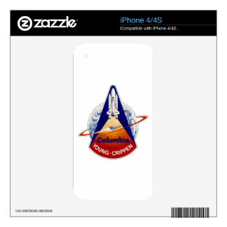 STS 1 Columbia: Young and Crippen iPhone 4 Skins