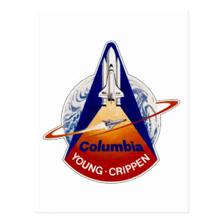 STS 1 Columbia: Young and Crippen Postcard