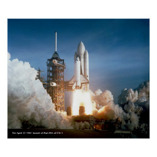 STS-1 Launch Poster