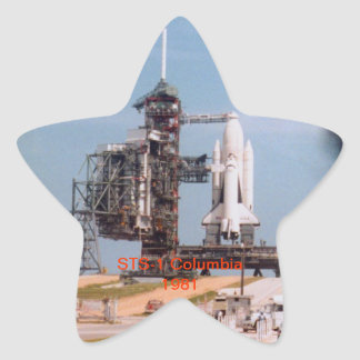 STS -1 Space Shuttle Columbia Star Sticker