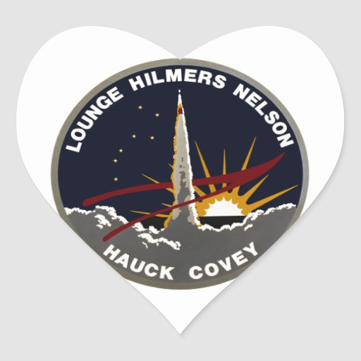 STS-26 Discovery: Return To Flight Heart Sticker