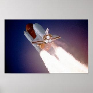 STS-27, órbita la Atlántida, despegue Póster