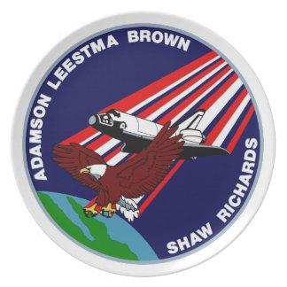STS -28 Columbia: OV-102 Melamine Plate