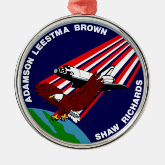 STS -28 Columbia: OV-102 Round Metal Christmas Ornament