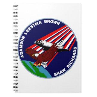 STS -28 Columbia: OV-102 Spiral Notebooks