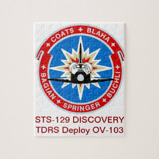 STS-29:  Discovery: OV-103 and TDRS Jigsaw Puzzle
