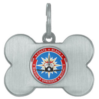 STS-29:  Discovery: OV-103 and TDRS Pet ID Tag