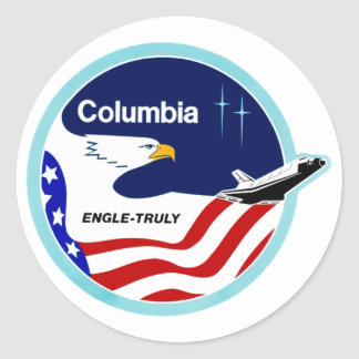 STS-2 Columbia:  Engle & Truly Classic Round Sticker