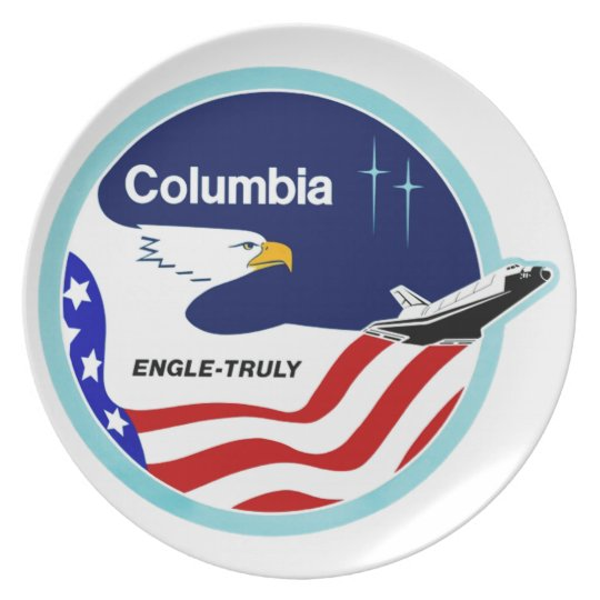 STS-2 Columbia:  Engle & Truly Dinner Plate
