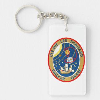 STS-30 Atlantis and Magellan Double-Sided Rectangular Acrylic Keychain