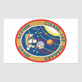 STS-30 Atlantis and Magellan Rectangle Sticker