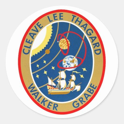 STS-30 la Atlántida y Magellan Etiquetas Redondas