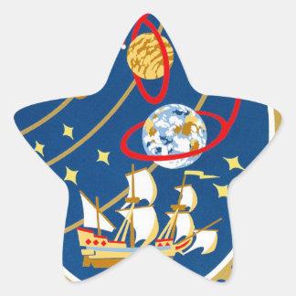 STS-30 la Atlántida y Magellan Pegatina En Forma De Estrella