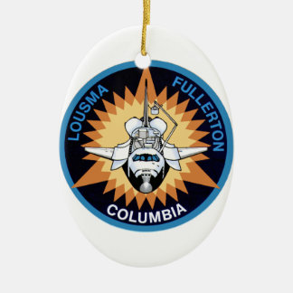 STS 3 Columbia: Lousma and Fullerton Ceramic Ornament
