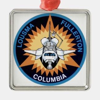 STS 3 Columbia: Lousma and Fullerton Metal Ornament