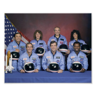 STS-51L Space Shuttle Challenger Crew Portrait Poster