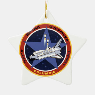 STS-5: Columia 1st Operational Mission Double-Sided Star Ceramic Christmas Ornament