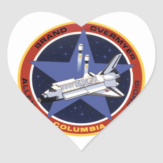 STS-5: Columia 1st Operational Mission Heart Stickers