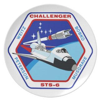 STS 6: Challenger OV-99 Dinner Plate