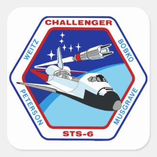 STS 6: Challenger OV-99 Square Sticker