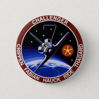 STS-7: Challenger OV-99 & Sally Ride Pinback Button