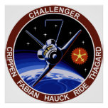STS-7: Challenger OV-99 & Sally Ride Poster