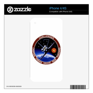 STS-7: Challenger OV-99 & Sally Ride Skin For iPhone 4