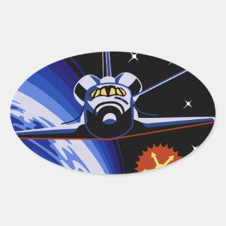 STS-7: Challenger OV-99 & Sally Ride Oval Sticker