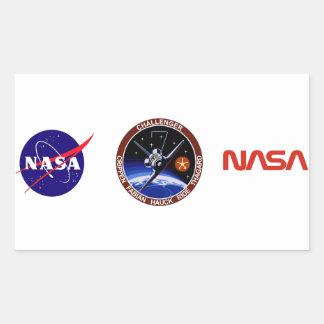 STS-7: Desafiador OV-99 y paseo de Sally Pegatina Rectangular