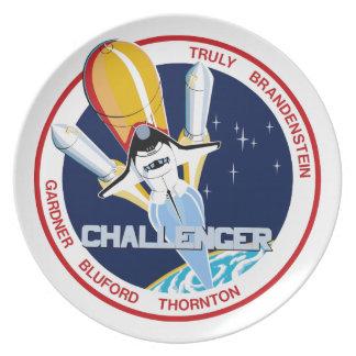 STS-8: Challenger:  1st Night Landing Dinner Plate