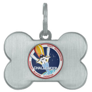 STS-8: Challenger:  1st Night Landing Pet Tag