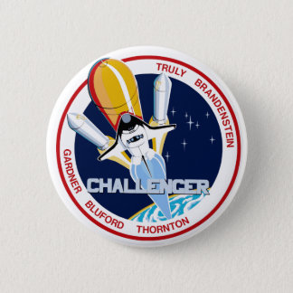 STS-8: Challenger:  1st Night Landing Pinback Button