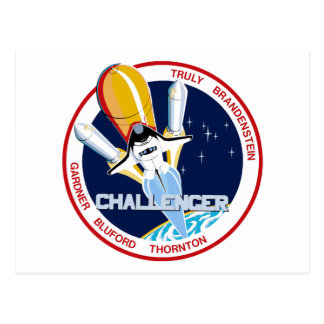 STS-8: Challenger:  1st Night Landing Postcard