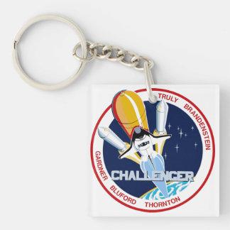STS-8: Desafiador:  1r Aterrizaje de noche Llavero Cuadrado Acrílico A Doble Cara