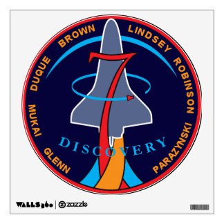 STS-95 Space Shuttle Discovery Mission Patch Room Sticker