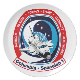 STS 9 Columbia: SKYLAB Melamine Plate