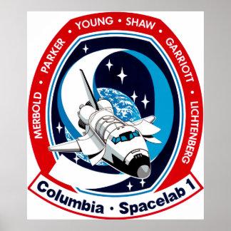 STS-9 Columbia SPACELAB Impresiones