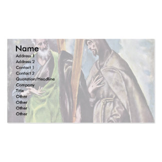 Sts. Andrew And Francis By Greco El Business Card Template