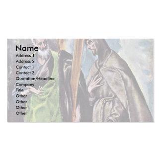 Sts. Andrew y Francisco por el EL de Greco Tarjeta De Negocio
