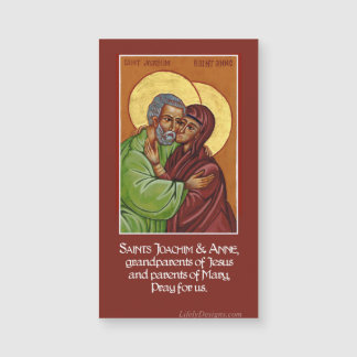 Sts. Anne & Joachim Prayer Magnets (25 pack)