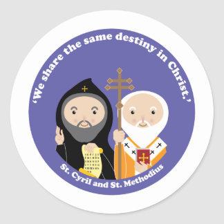 Sts. Cyril and Methodius Classic Round Sticker